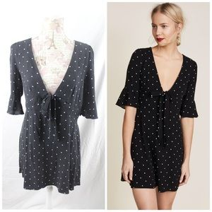 Free People All Yours Mini Dress Size 12 Polka Dot